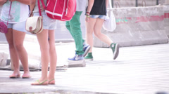 young adult couple walking - stock footage