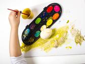 Stock Photo of Painting egg