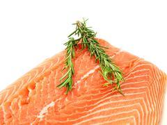 Fresh raw salmon - stock photo