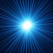 Abstract background of blue star burst - stock illustration