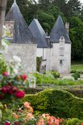 subtle, sophisticated and full taste garden and chateau la chatonniere - stock photo