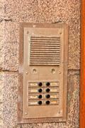 Intercom. Electronic device for intercommunication. Security system Stock Photos
