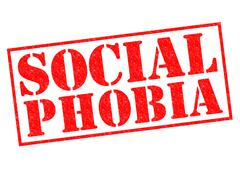 Social phobia - stock illustration