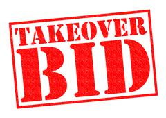 Takeover Bid Stock Illustration