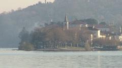 Isola dei pescatori on Lake Maggiore Stock Footage