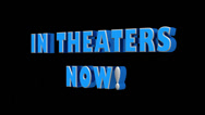 "Stock Video Footage of ""In Theaters now"" Title with alpha channel included."