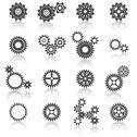 Stock Illustration of cogs wheels and gears icons set