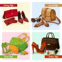 Stock Illustration of set of women bags shoes and accessories
