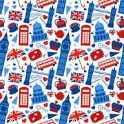 Seamless pattern background with london Stock Illustration