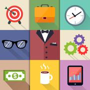 Stock Illustration of business suits icons set