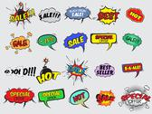 Stock Illustration of comic sale explosion icons