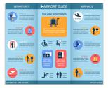 Stock Illustration of airport business infographic brochure