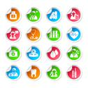 Stock Illustration of medical healthcare icon stickers