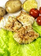 Fried white fish Stock Photos