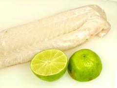 Raw white fish Stock Photos