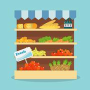 Supermarket food collection Stock Illustration