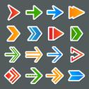 Stock Illustration of arrow symbols icons set