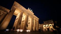 Brandenburger gate in berlin Stock Footage