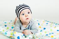 Stock Photo of the blue-eyed baby
