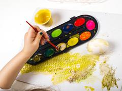 Painting egg - stock photo
