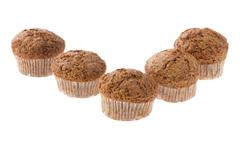 Muffin on white close up Stock Photos