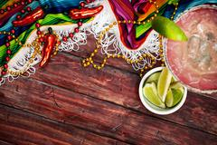 Stock Photo of background: cinco de mayo celebration with margarita