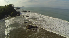DJI Phantom over rugged beach in Costa Rica Stock Footage