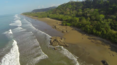 Pristine, empty and lush tropical beach in Costa Rica - stock footage