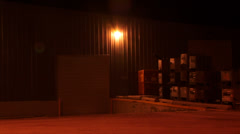 Warehouse Industrial Shop at night after Dark 2 - stock footage