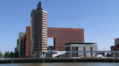 Skyline Wilhelminaplein, Courthouse and Tax office, Wilhelminatoren Stock Footage