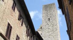 4K San Gimignano tower - Tuscany, Italy Stock Footage