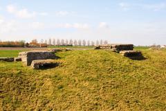 ww1 bunker trench of death in diksuimde flanders belgium - stock photo