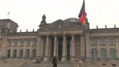 Reichstag building in Berlin Stock Footage