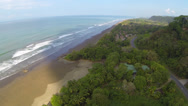 Stock Video Footage of Costa Rica Aerial, flying high over Dominical