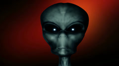 Gray green alien Stock Footage