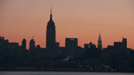 Stock Video Footage of Midtown Manhattan Skyline Morning Twilight 3