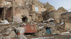 Kandovan village Stock Footage