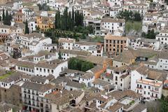 Houses in Albaicin, Granada, Spain - stock photo