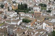 Stock Photo of Houses in Albaicin, Granada, Spain