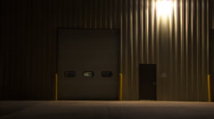 Warehouse Industrial Shop at night after Dark 14 - stock footage