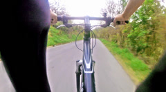 Going by bicycle, pov Stock Footage