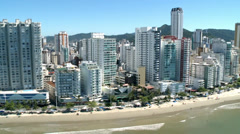 City of Balneario Camboriu, SC, Brazil - Aerial Shot1 Stock Footage