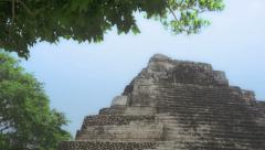 Mayan pyramid in summer Stock Footage