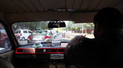 New Delhi streets from taxi Stock Footage