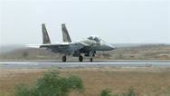 Stock Video Footage of F15 Falcon take off fly