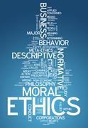 Word cloud ethics Stock Illustration