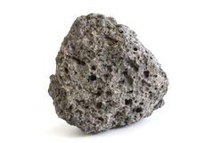 piece of volcanic extrusive igneous rock - stock photo