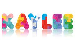 Vector kaylee written with alphabet puzzle Stock Illustration