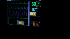 Vital Signs Flat Line Slider Stock Footage