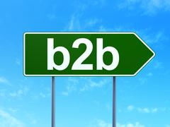 Finance concept: B2b on road sign background Stock Illustration